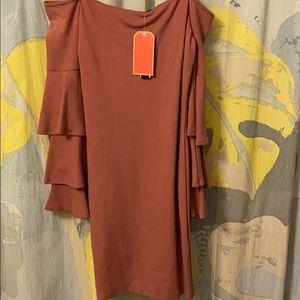 Sz L Gianni Bini Off-the Shoulder Dress